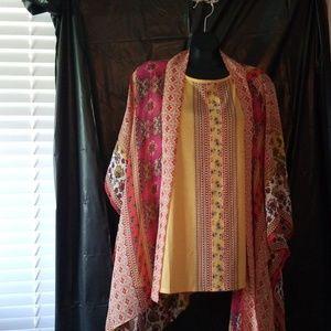 2 piece shell and kimono